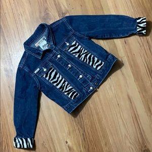 Gasoline Jean jacket with zebra detail